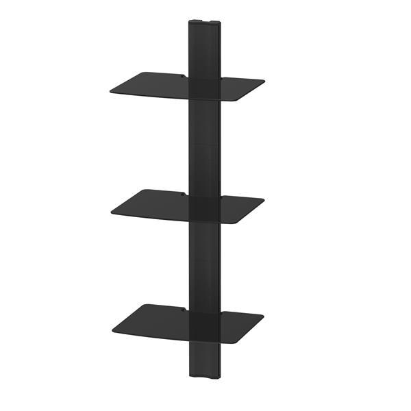 Kanto AVT3 Wall Mounted AV - 3 Shelves - Black