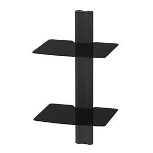 Étagère murale étagère Kanto AVT1  AV, 2 tablettes, Noir