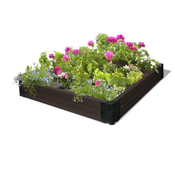 """Lit de jardin modulaire en composite, Expresso, 48""""x48"""""""