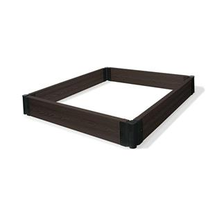 "Raised Composite Modular Garden Bed - Espresso - 48"" x 48"""