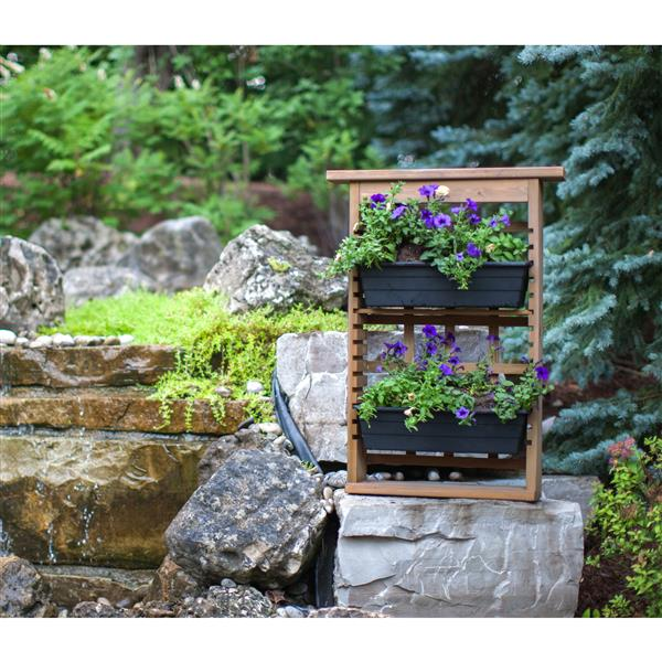 Garden View Planter with Trellis - 3 Planters