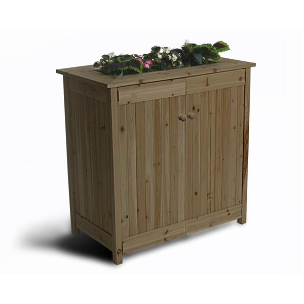 Algreen Products Boîte de terrasse Ergogarden avec jardinière et rangement 32003