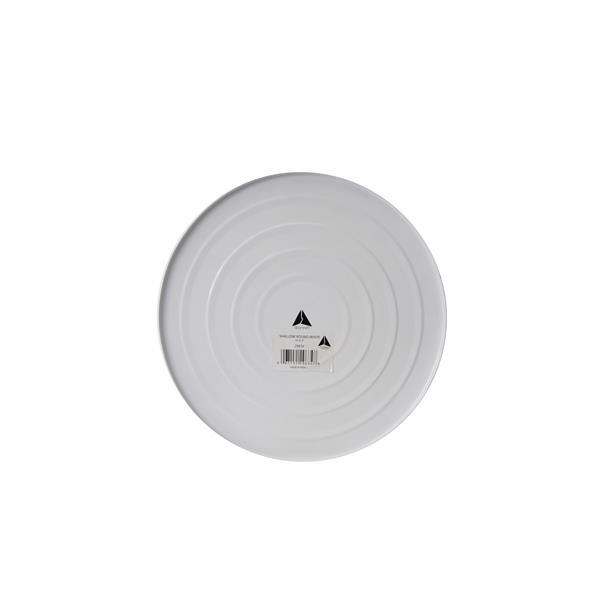 """Jardinière intérieure ronde en acier inox, 14"""" x 3"""", blanc"""