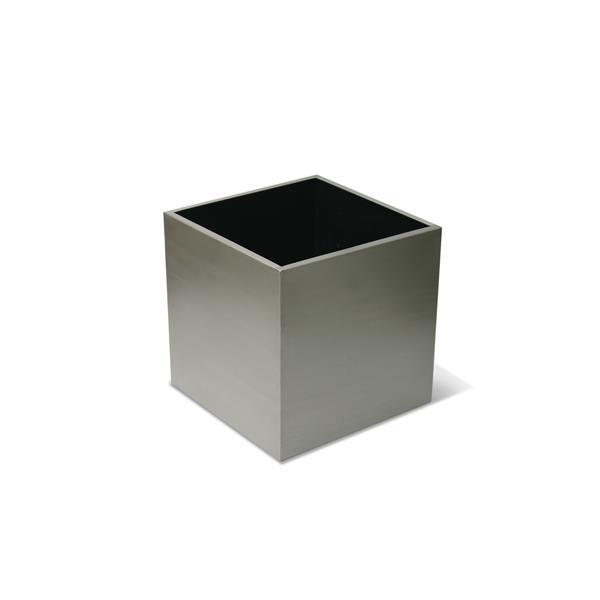 """Jardinière cubique en acier inoxydable, 12"""" x 12"""""""
