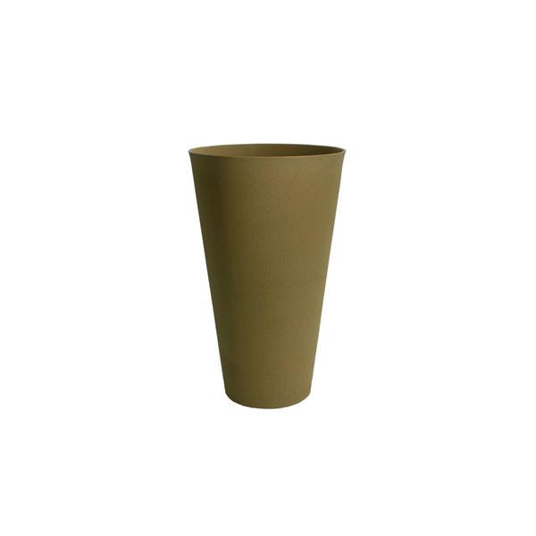 """Jardinière ronde conique Acerra, 15"""" x 24,5"""", sable"""