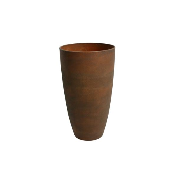 """Jardinière en vase courbé Acerra, 11,5"""" x 20"""", Rouille"""