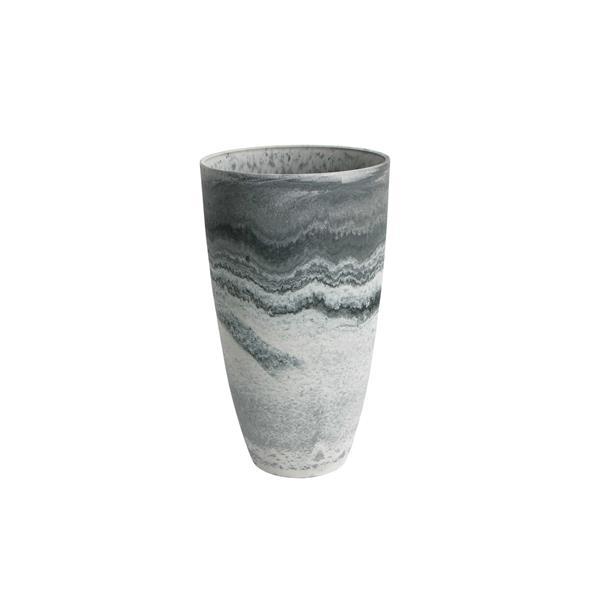 """Jardinière en vase courbé Acerra, 11,5"""" x 20"""", Marbre"""