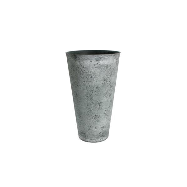 """Jardinière ronde conique Acerra, 15"""" x 24,5"""", Ciment"""