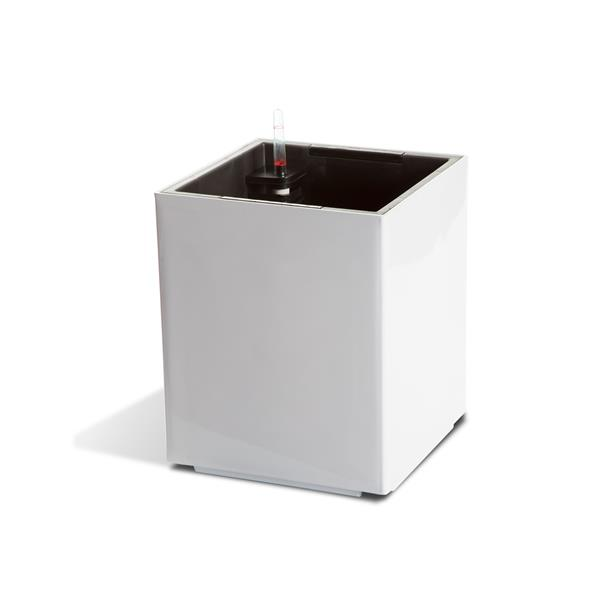 Modena Cubic Self-Watering Planter - Glossy White
