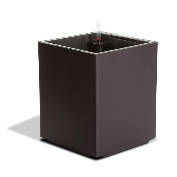 Jardinière en cube auto-irriguante Modena, Moka mat