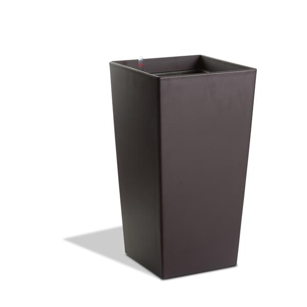 "Modena Square Taper Self-Watering Planter -30"" - Matte Mocha"