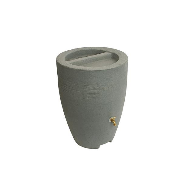 Algreen Athena Rain Barrel - 50 Gallon - Taupestone