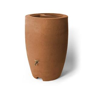 Algreen Athena Rain Barrel - 50 Gallon - Terra Cotta