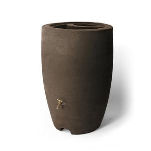 Algreen Athena Rain Barrel - 50 Gallon - Brownstone