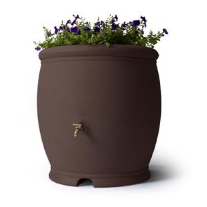 Algreen Barcelona Rain Barrel - 100 Gallon - Brownstone