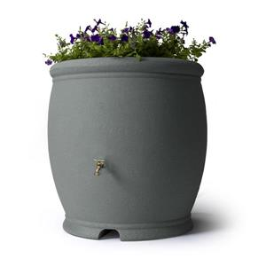 Algreen Barcelona Rain Barrel - 100 Gallon - Charcoal