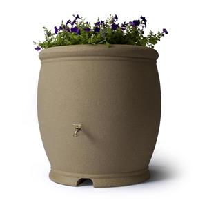 Algreen Barcelona Rain Barrel - 100 Gallon - Taupestone