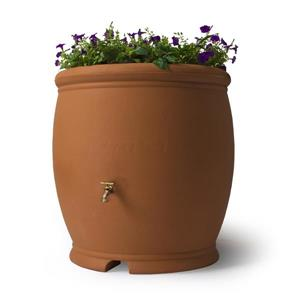 Algreen Barcelona Rain Barrel - 100 Gallon - Terra Cotta