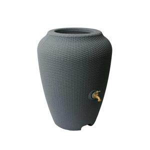 Algreen Wicker Rain Barrel - 50 Gallon - Charcoal