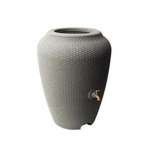 Algreen Wicker Rain Barrel - 50 Gallon - Taupestone