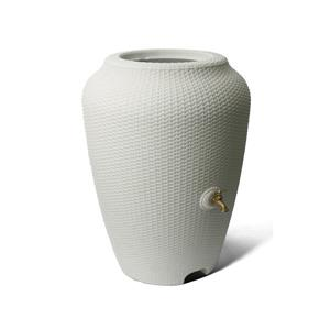 Algreen Wicker Rain Barrel - 50 Gallon - White Sand
