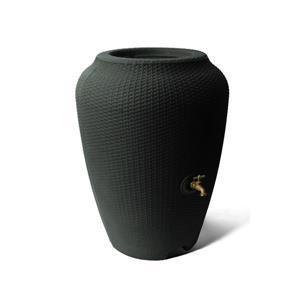 Baril de pluie décoratif Wicker, 50 gallons, noir