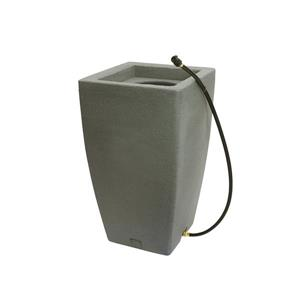 Algreen Madison Rain Barrel - 49 Gallon - Taupestone