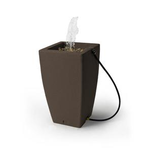 Algreen Madison Rain Barrel Fountain - 49 Gallon- Brownstone