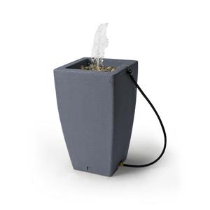 Algreen Madison Rain Barrel Fountain - 49 Gallon - Charcoal