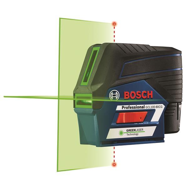 Laser en croix connecté avec faisceaux laser verts, max 12 V