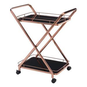 Zuo Modern Vesuvius Serving Cart - 30-in x 35-in - Rose Gold