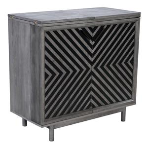 Raven Bar with chevron pattern - Old Gray - 42