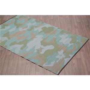 Tapis camouflage pour l'extérieur en plastique, Vert, 5'x8'