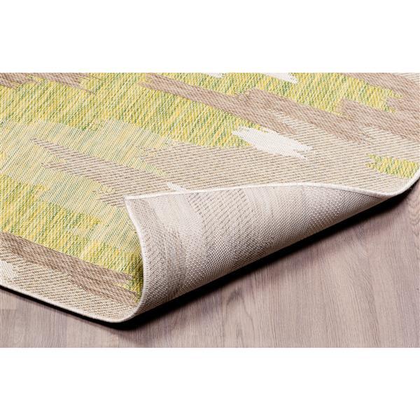 Erbanica Indoor-Outdoor Polypropylene Rug - Green/Sand - 3' x 5'