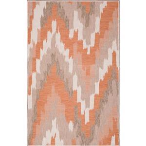 Tapis polypropylène intérieur-extérieur, Brique, 5'x8'