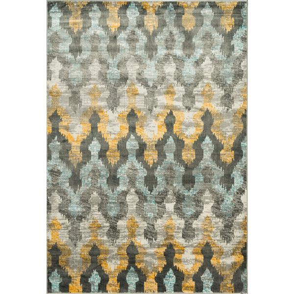 Tapis Murano Vintage à motifs treillis multicolore, 8'x10'