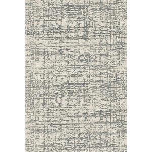Tapis en polypropylène texturé Aria, Crème et gris, 8'x10'