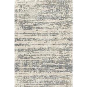 Tapis en polypropylène texturé Aria, Gris argenté, 8'x10'
