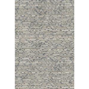 Tapis en polypropylène texturé, Gris foncé et pâle, 8'x10'