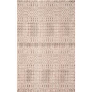 Tapis chenille Moroccon en coton, Beige brun, 8'x10'