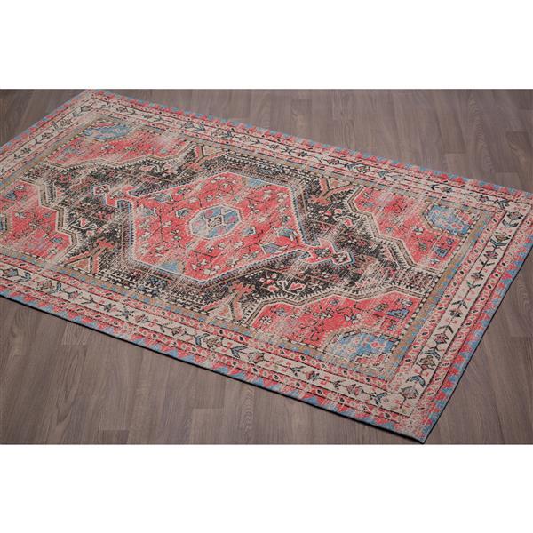 Tapis Vintage de coton chenille, Multicolore, 8'x10'