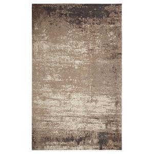 Tapis fait à la main de coton chenille, Gris/Beige, 8'x10'