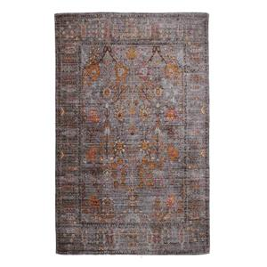 Handmade Chenille Cotton Grey Gold Abstract Rug - 8'x10'