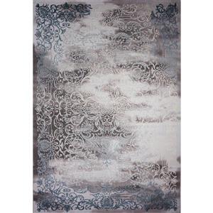 Segma Aria Area Rug - 8-ft x 11-ft - Polypropylene - Gray/Blue