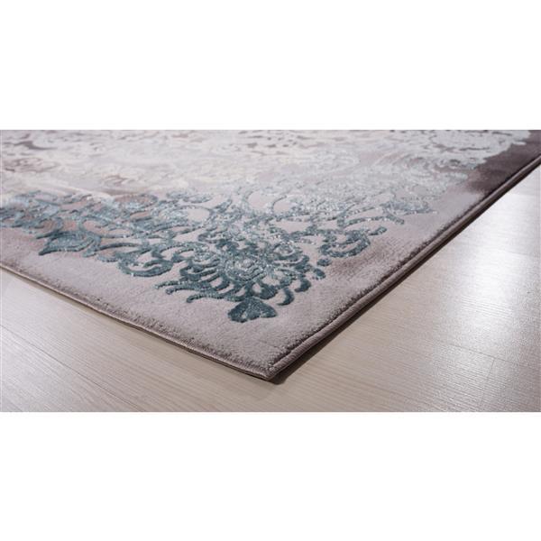 Segma Aria Area Rug - 5-ft x 8-ft - Polypropylene - Gray/Blue