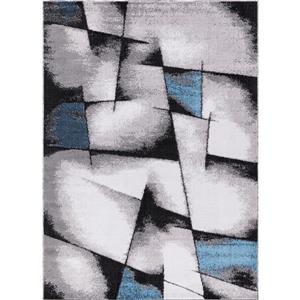 Tapis Geoaqua, 5' x 8', polypropylène, gris/bleu