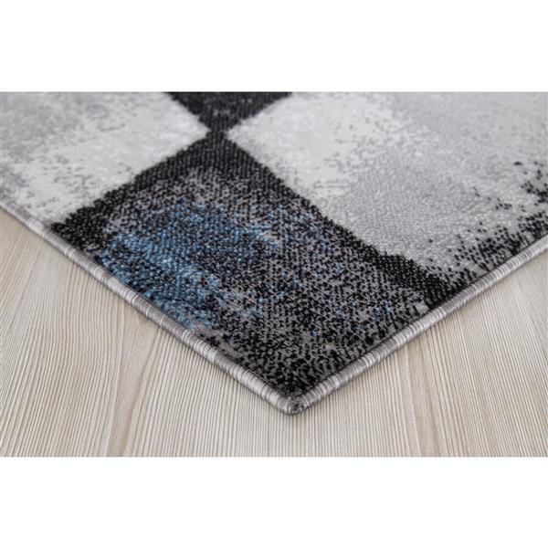 Tapis Geoaqua, 2' x 3', polypropylène, gris/bleu