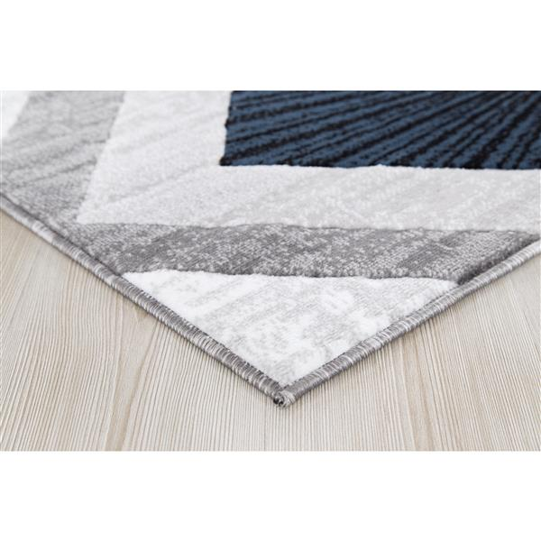 Segma Diablue Area Rug - 2-ft x 3-ft - Polypropylene - Gray/Blue