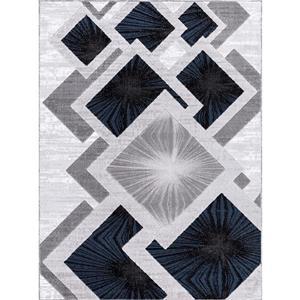 Tapis Diablue, 5' x 8', polypropylène, gris/bleu
