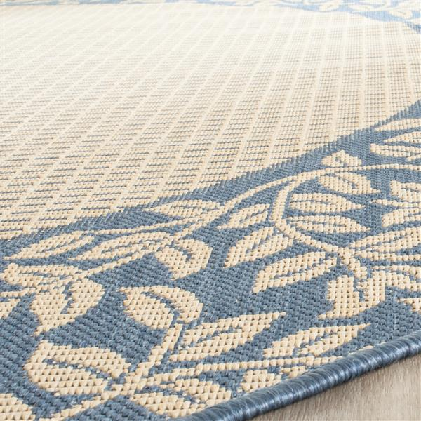 "Safavieh Decorative Courtyard Rug - 2' x 3' 7"" - Natural/Blue"